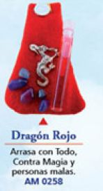 AMULETO DRAGON ROJO